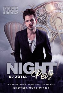 Night Party Free PSD Flyer Template