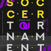 Soccer Turnament Free PSD Flyer Template