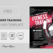 Sport Fitness Flyer – Free PSD Template