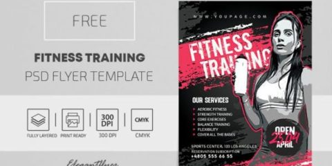 Sport Fitness Flyer – Free PSD Template