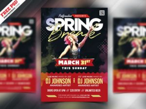 Spring Break Event Free PSD Flyer Template