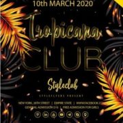 Tropicana Party Free PSD Flyer Template