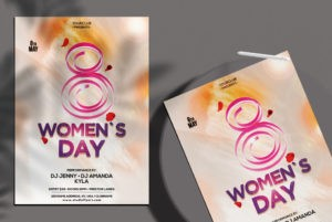 Women`s Day PSD Flyer Template for Free