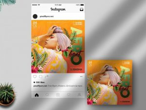 Free Afro Beat Party Instagram Post Template in PSD