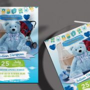 Free Baby Shower Invitation Flyer Template in PSD