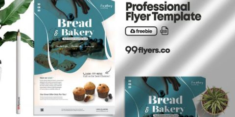Free Bakery Flyer Template in PSD
