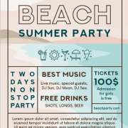 Free Beach Party Flyer Template in PSD