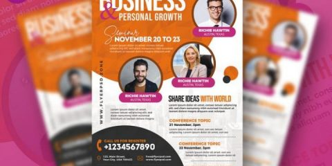 Free Business Event Template in PSD