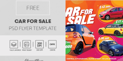 Free Car For Sale Flyer Template in PSD