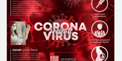 Free Corona Flyer Template in PSD vol.2