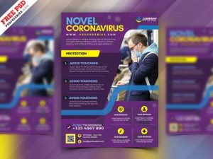 Free CoronaVirus Flyer Template in PSD
