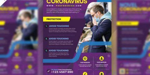 Free CoronaVirus Flyer Template in PSD