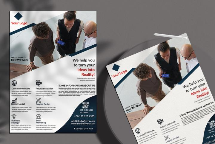 Free Corporate Business Flyer Template in PSD