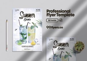 Free Drink Event Invitation Flyer Template in PSD