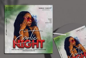 Free Exotic Night Flyer Template in PSD
