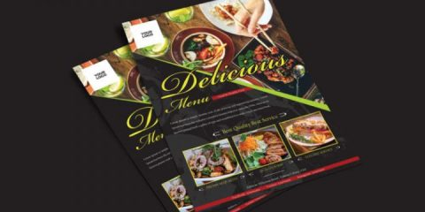 Free Food Restaurant Flyer Template in PSD