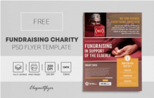 Free Fundraising Charity Flyer Template in PSD