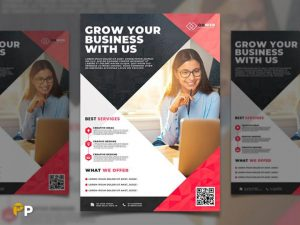Free Grow your Business Flyer Template in PSD