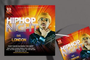 Free Hip Hop Night Flyer Template in PSD