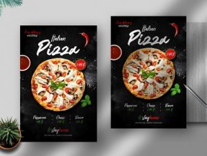 Free Italian Pizza Delivery Flyer Template in PSD