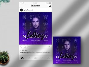 Free Ladies Night Instagram Post Template in PSD