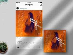 Free Ladies Night Instagram Template in PSD