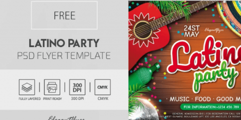 Free Latino Party Flyer Template in PSD