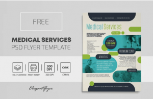 Free Medical Care Flyer Template in PSD