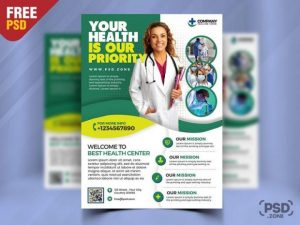 Free Medical Clinic Flyer Template in PSD