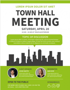 Free Meeting Flyer Template in PSD