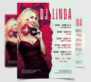 Free Music Vibe DJ Flyer Template in PSD