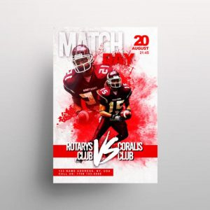 Free NFL Match Flyer Template in PSD