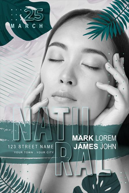 Free Natural Makeup Flyer Template in PSD