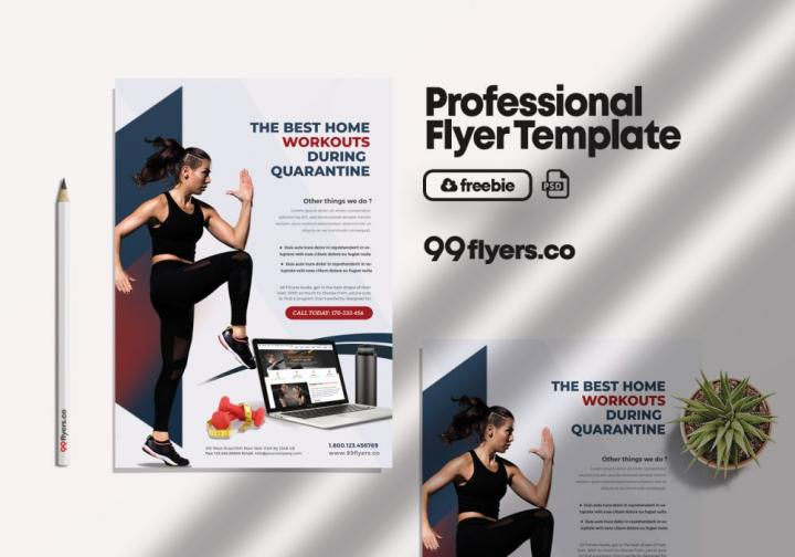 Free Online Personal Training Flyer Template in PSD