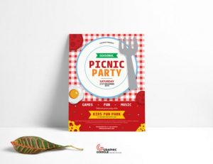 Free Picnic Day Event Flyer Template in PSD