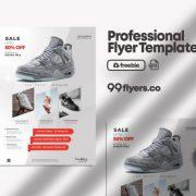 Free Shoe Sale Flyer Template in PSD