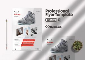 Free Shoe Sale Flyer Template in PSD