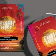 Free Summer Beach Flyer Template in PSD