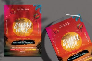 Free Summer Beach Flyer Template in PSD