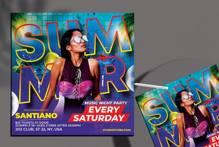 Free Summer Day Flyer Template in PSD