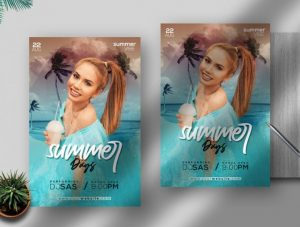 Free Summer Days Flyer Template in PSD
