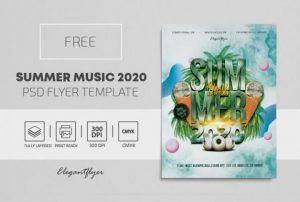 Free Summer Music Flyer Template in PSD