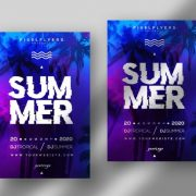 Free Summer Vibe Flyer Template in PSD