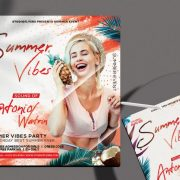 Free Summer Vibes Flyer Template in PSD