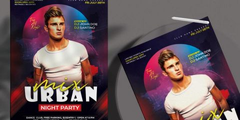 Free Urban Club Party FlyerTemplate in PSD