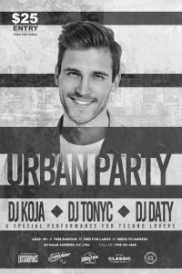 Free Urban Party Flyer Template in PSD