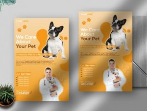 Free Veterinary Flyer Template in PSD
