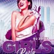 Girl Music Party Flyer Template in PSD