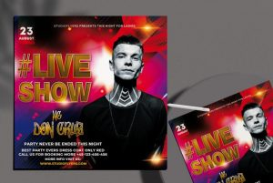 Live Perfomance Free PSD Flyer Template