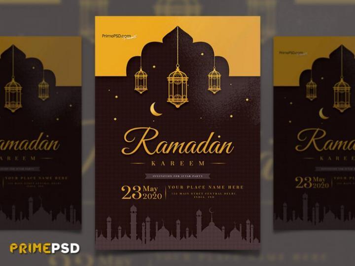 Ramadan Iftar Event Free PSD Flyer Template
